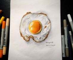 Realistic Egg Drawing by magato98