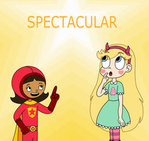 Wordgirl gives a word to Star by Deaf-Machbot