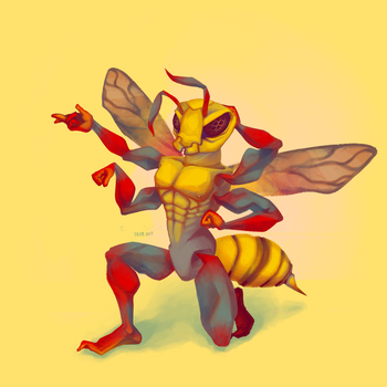 hornet - bodybuilder by BuduFamousPosleDeath