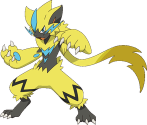Zeraora Sun + Moon anime by Pokemonsketchartist