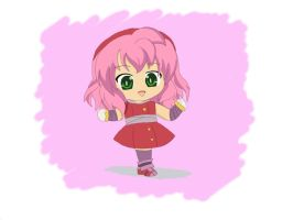 Chibi Amy by OptimusPrimeTFR