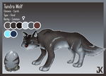 Tundra Wolf - Reference Sheet by JK-madferret