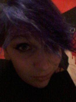 dyed my hair dark purple by The-11thDoctor