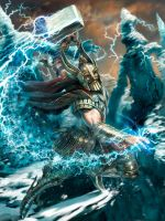 Thor the Norse God - stage 4 by m0zch0ps