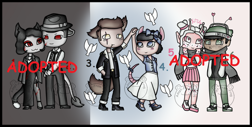 Valentines Day Adopts: Part 1 (1/3 OPEN) by Adopt-From-Frog