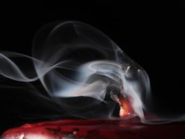 Black out IX - Red candle by AlejandroCastillo