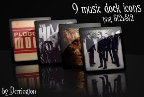 Music Dock Icons by derrington12