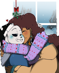 Undertale: Winter kisses by Geeflakes-art