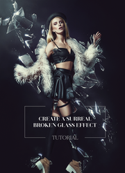 How to Create a Broken Glass Effect in Photoshop by AbbeyMarie