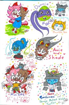 Colourful drawings by Kittychan2005