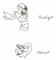 Accelgor and Shelmet