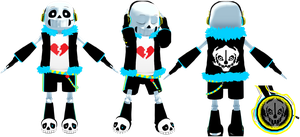 MMD Vocaloid Sans Model (DL) by KittyNekkyo