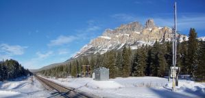 Castle Mountain Crossing by MrConductor
