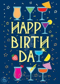 Happy Birthday - greetings card design by megcowley