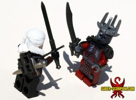 LEGO Witcher 3: Geralt vs. Eredin by Saber-Scorpion