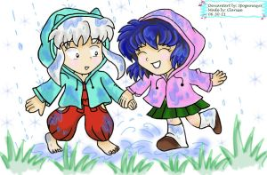 Inuyasha: Playing Under the Rain by spogunasya