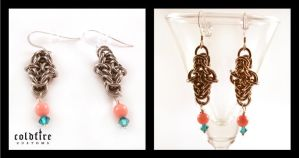 Byzantine Variation Earrings by coldfirecustoms