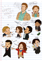 Inception - Chibi Sketch Dump by JadeRaven93