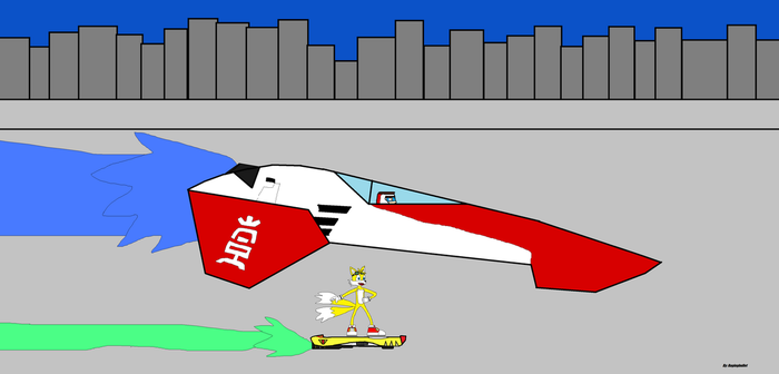 Wipeout AG System VS Sonic Riders Tails by RagingBullet