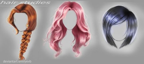 Hair Studies. by Emi-images