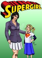 Supergirl and Lois Lane by Jean Sinclair by THE-Darcsyde