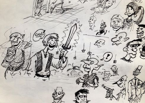 Snapshot from a Sketchbook by SquidHatJenkins