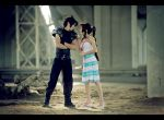 Looking in sky-blue eyes - Zack and Aerith cosplay by Narga-Lifestream