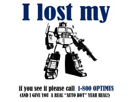 I LOST MY OPTIMUS by paranoik-designs