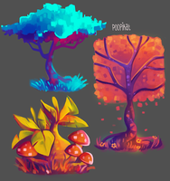 Tree Concepts 1 by Poopikat