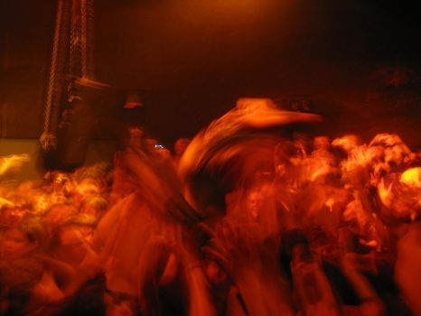 Jonne stage crowd surfin' by Korpiklaani-fanclub