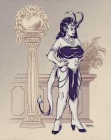 Demoness Waiting by SuperEdco