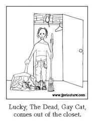 Lucky, The Dead, Gay Cat by Gori-Suture