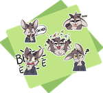 Goat Telegram Stickers by CutePencilCase