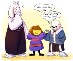 Goat Mom and Bone Dad by Goaterz