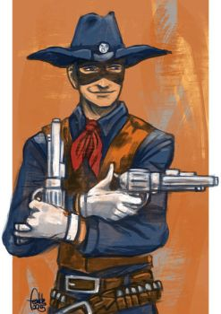 Daily Sketches Two Gun Kid by fedde