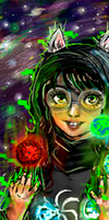 Witch of Space bookmark by Hiluxy