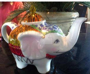 White Elephant Teapot by wonderlandalli