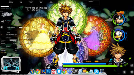 My Kingdom Hearts Rainmeter (Links Provided) by RobVtW