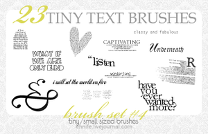 23 Text+Tiny Text Brushes 04 by ennife-resources