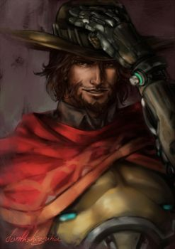 Jesse McCree by DarthShizuka