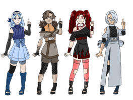 Elemental collab auction by zombie-adoptables