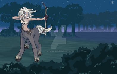 Anime Centaur Archer by Tazmaa