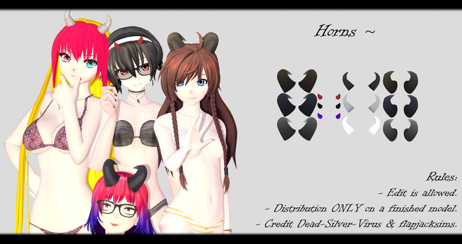 [MMD] Horns DL ~ by o-DSV-o