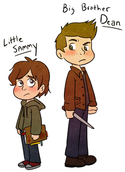 Lil Sammy and Big Brother Dean by Arkham-Insanity
