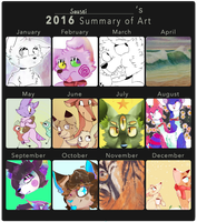 Art Summary 2016 by cayotze