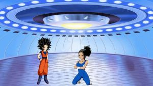 Caulifla and Kale Training in The Gravity Room by romambrose6