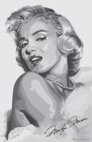 Marilyn Monroe Vector Graphic by rick699