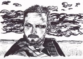 Jesse Pinkman Breaking Bad Ink Drawing Portrait by LorraineKelly