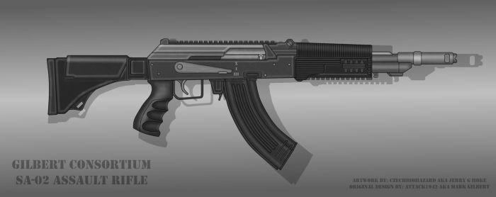Commission for ATTACK1942: SA-02 Assault Rifle by CzechBiohazard