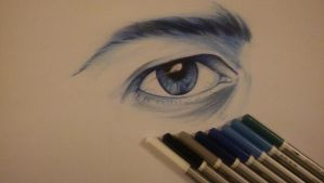Male Eye Study by thekillingmark